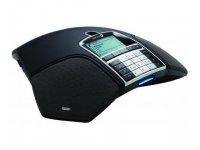 Alcatel-Lucent IP-Konferenztelefon OmniTouch 4135 mit Zubehör (Netzwerkkabel, Zusatzmikrofone und Stromwandler)