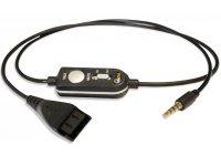AxTel Headsetkabel mit Fernbedienung (QD / 3,5 mm Klinke)