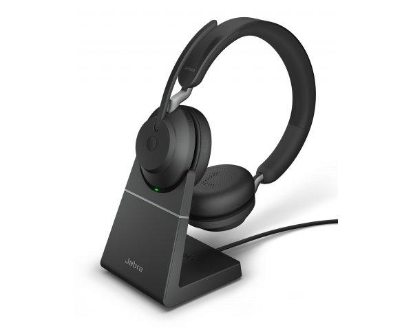 Jabra Evolve2 65 UC Stereo mit Ladestation - schwarz - USB-C